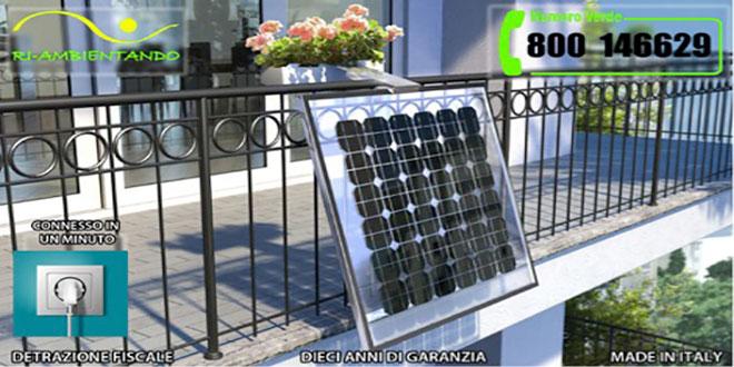 pannelli fotovoltaici porta fiori balcone