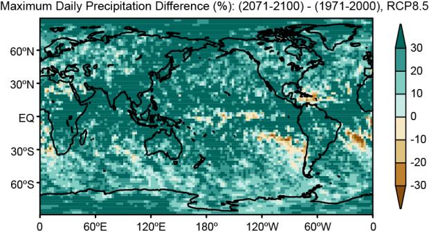 precipitazioni e riscaldamento globale