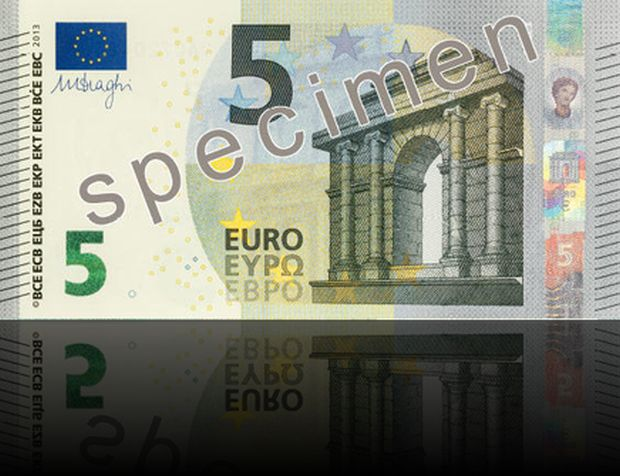 nuova banconota da 5 euro europa