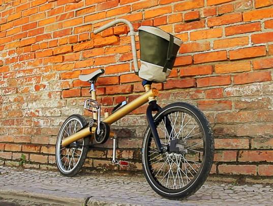 bici riciclata vecchia auto riciclo creativo