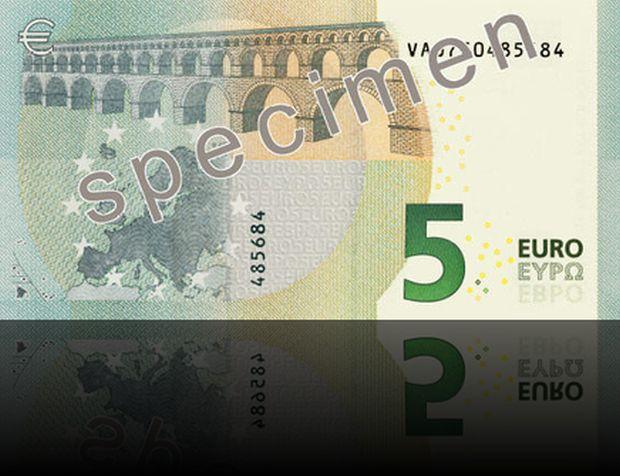 retro banconota 5 euro