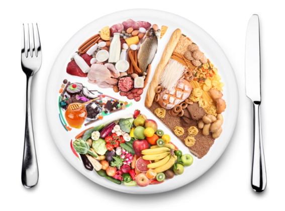 piatto dieta porzioni