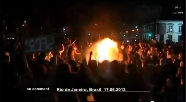 protesta brasile morto