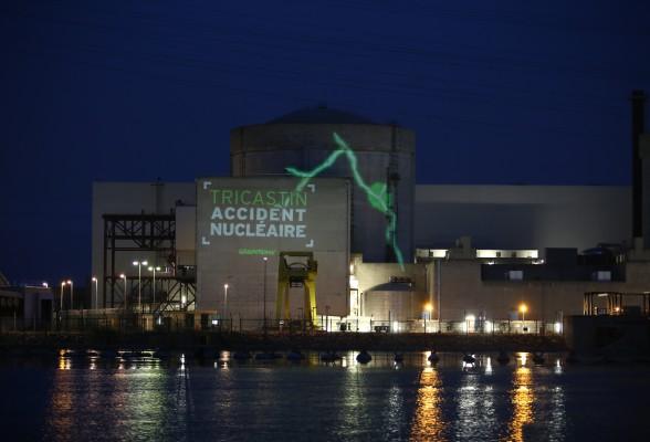 greenpeace blitz centrale nucleare tricastin foto