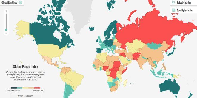 nazioni più pacifiche al mondo