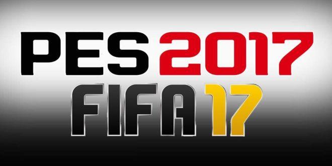 FIFA 17 e PES 2017