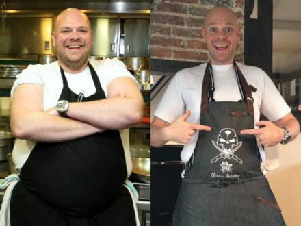 Tom Kerridge prima e dopo la dieta