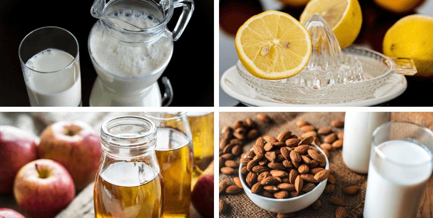 sostituti del latticello latte limone aceto mandorle